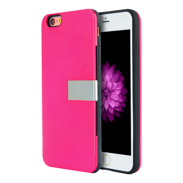 Modern Luxury Card Holder iPhone Case with Kickstand