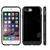 Apple iPhone 7 Plus Hybrid Case Carry Less TPU With Side Card Inserted