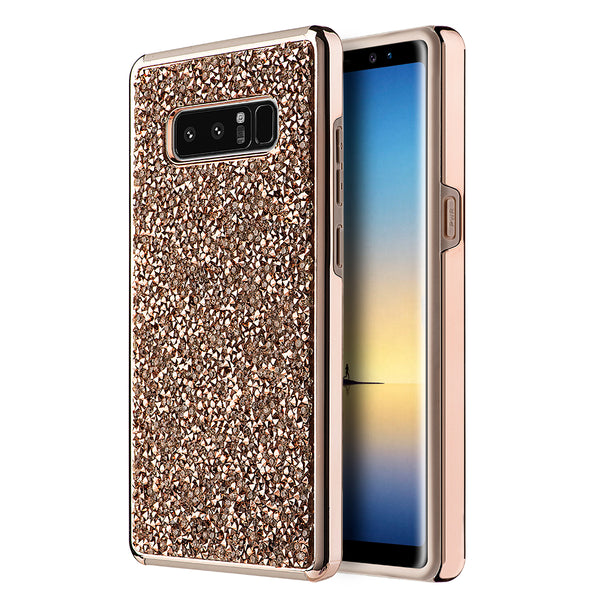 Samsung Galaxy Note 8 Diamond Platinum Hybrid Bumper Case With Electroplated Frame