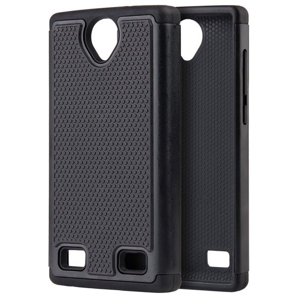 ZTE Z Max 2 Grippy Hybrid Case TPU + PC