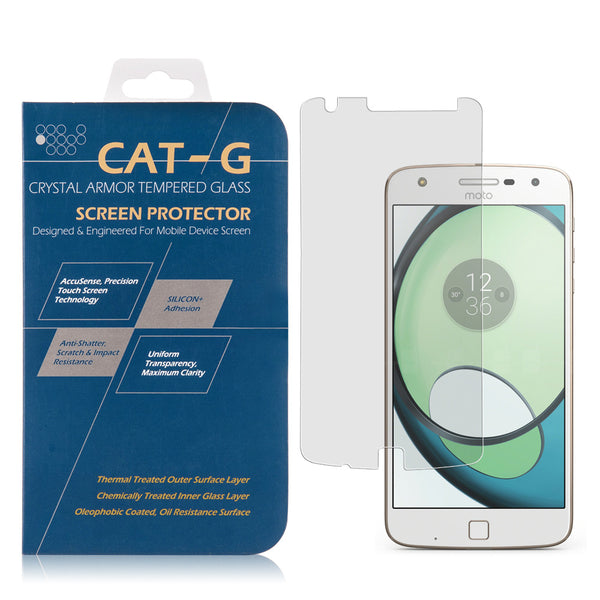 Moto Z Play Tempered Glass Screen Protector 0.33Mm Arcing