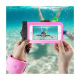 Waterproof Case For iPhone 6/ 6S Plus Or 5.5 Inch Devices With Wrist Strap In Hot Pink