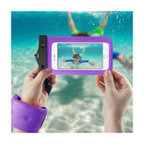 Waterproof Case For iPhone 6/ 6S Plus Or 5.5 Inch Devices With Wrist Strap In Purple