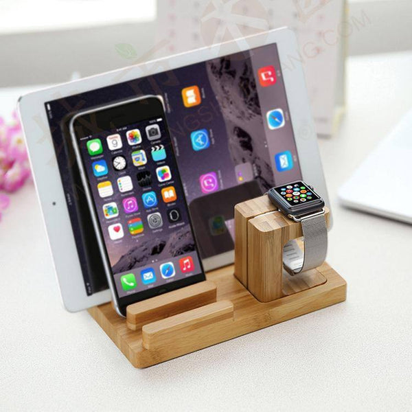 Bamboo Multi-Function Desktop Holder