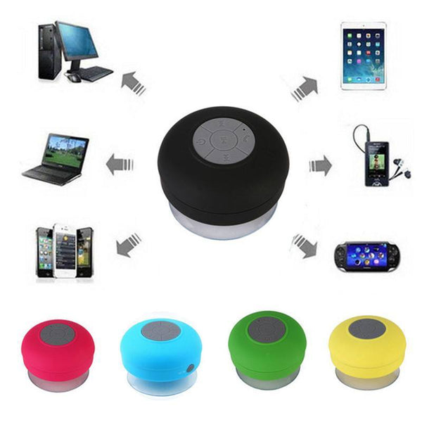 Mini Hands-Free Suction Waterproof Wireless Bluetooth Speaker