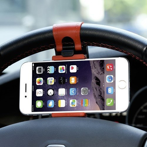 Universal Adjustable Mobile Phone Holder Steering Wheel Mount Clip