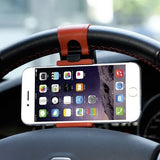 Accessories - Universal Adjustable Mobile Phone Holder Steering Wheel Mount Clip