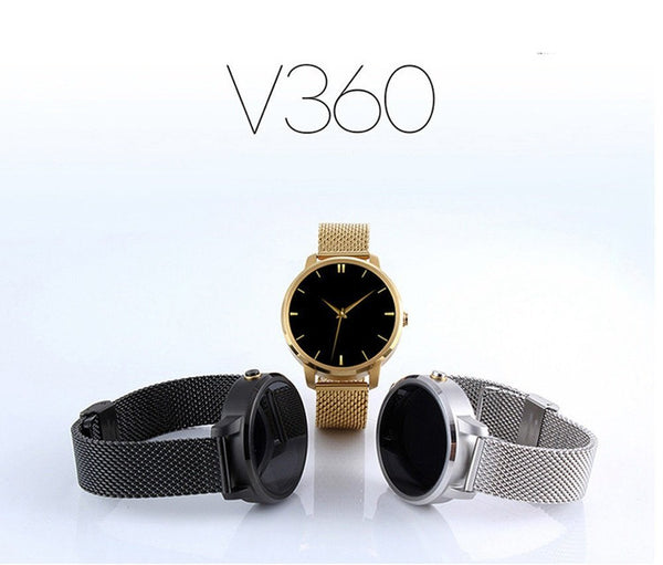 V360 Smart Watch with Stainless Steel Strap
