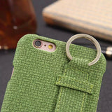Apple - Cotton Fabric Holder Case For IPhone