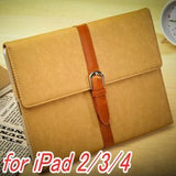 Apple - IPad Buckle Style PU Leather Stand Case