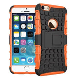 Apple - IPhone 6 Plus Anti-Slip Hard Silicon Rugged Armor Case