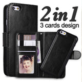 Apple - IPhone Removable Case With 3 Card Slot, Photoframe & Strap