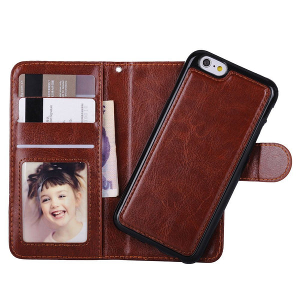 Removable iPhone Case W/3 Card Slot, Photoframe & Strap Hole
