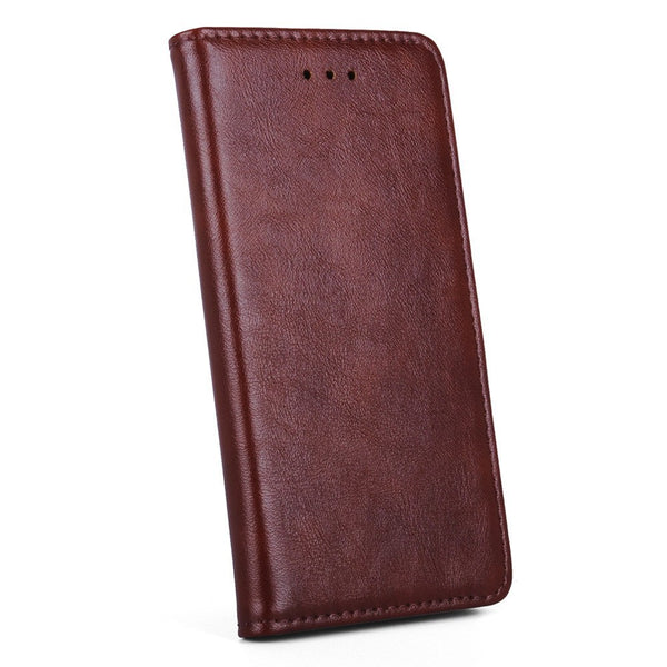 Ultra-thin Magnetic Leather iPhone Case w/Card Slot
