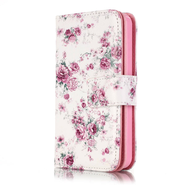 Fashion Painted Card Slot Leather Galaxy Case