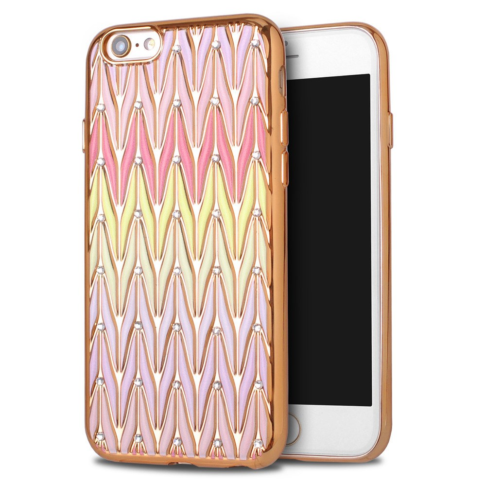 Rainbow Wave Bling Diamond Colorful iPhone Case