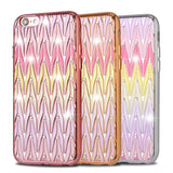 Apple - Rainbow Wave Bling Diamond Colorful Soft TPU Case For Iphone