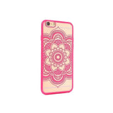 Flower Design iPhone Transparent Case