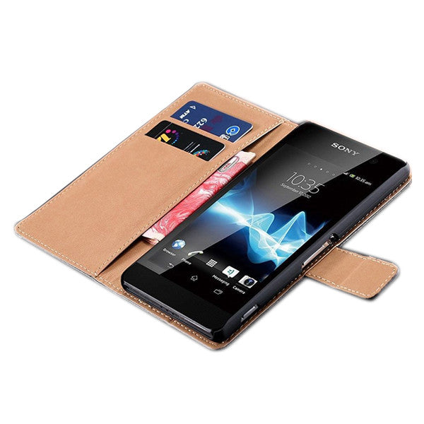 Pure Leather Xperia Z3 / Z1 Wallet Case