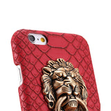 Snake Skin iPhone Case w/Lion Head Ring