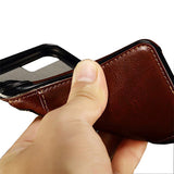 Slim Leather Wallet & Bumper Galaxy Case