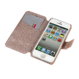 Leather Flip Wallet, Stand iPhone Case