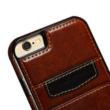 iPhone Slim Leather Wallet & Bumper Case