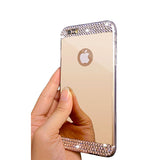 Stylish Mirror Rhinestone iPhone Case