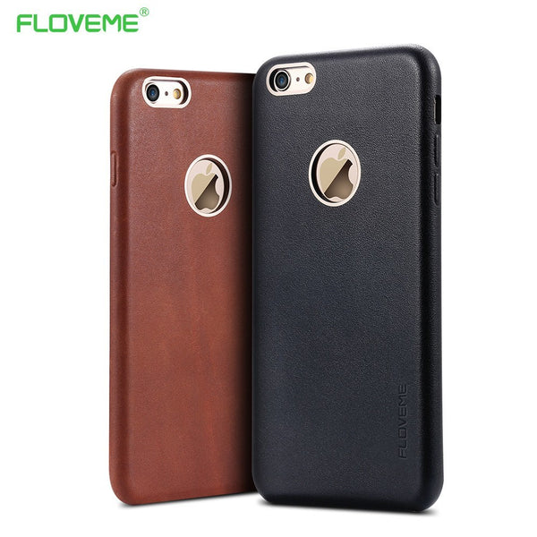 Stylish Cowhide Leather iPhone Case
