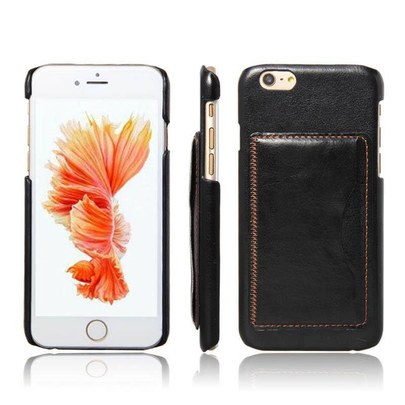 Leather w/Card Holder iPhone Case