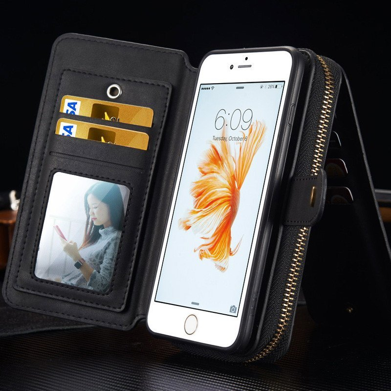 Multifunction Leather iPhone Case w/Wallet