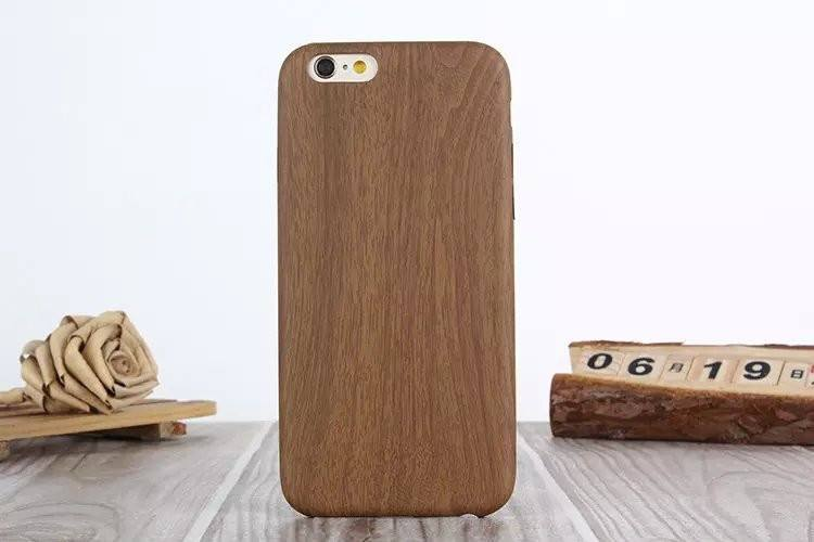 iPhone Wooden Pattern Soft Case