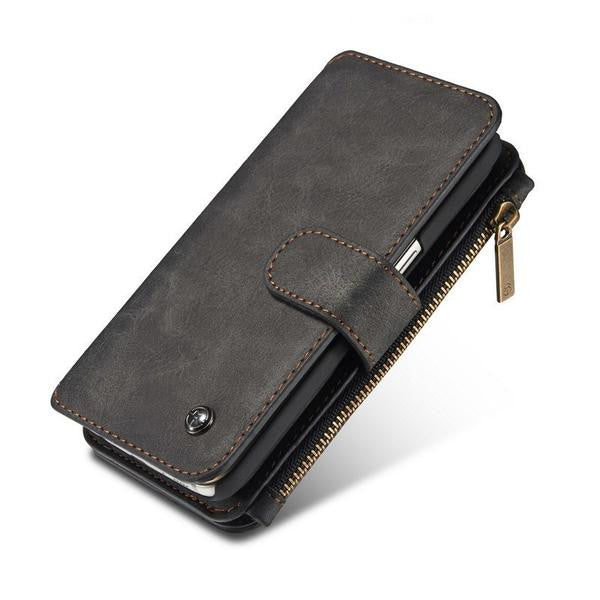 Multi-functional Zip Leather Wallet Galaxy Case