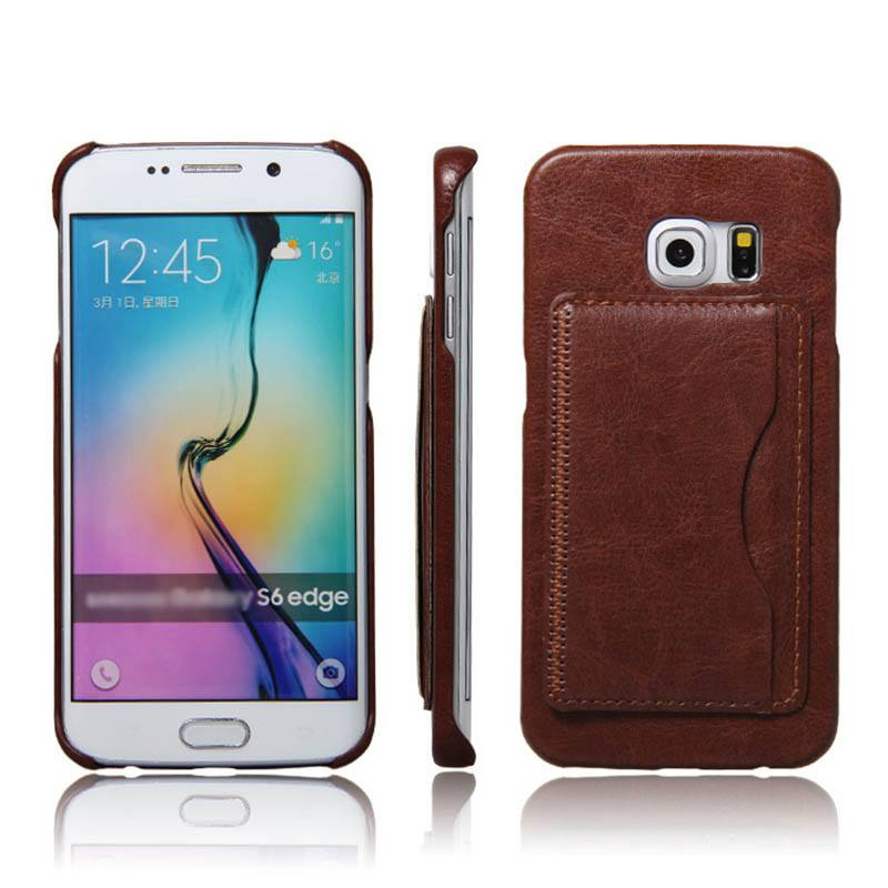 Business Leather Galaxy Case w/Card Slot Stand
