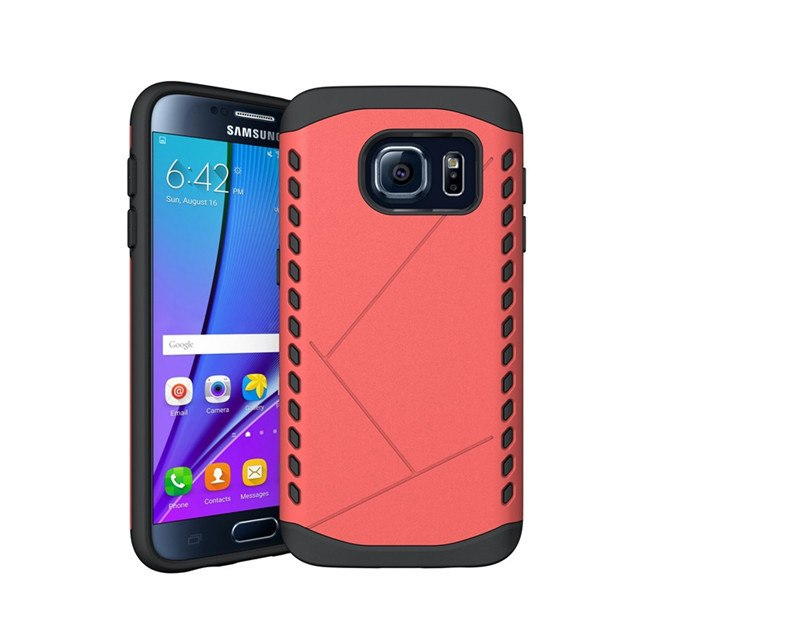 Dual-Layered Rugged Shockproof Armor Galaxy Case