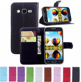 Samsung - Galaxy Core Prime Flip Wallet Stand Case