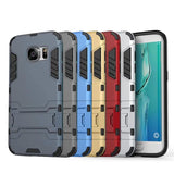 Samsung - Samsung Galaxy S7 Edge Shock Proof Hybrid Hard Case With Folding Kickstand