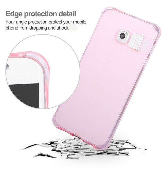 Light Up Silicone Anti-Knock Galaxy Case