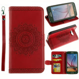 Samsung - Samsung Retro Wallet Leather Case With Photo Frame