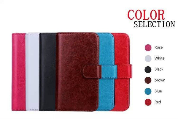 Vintage Multi-Purpose Leather Wallet Galaxy Case