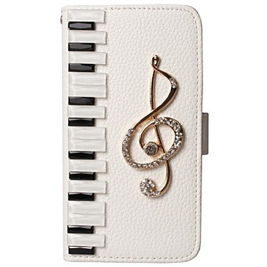 3D Piano Note Wallet iPhone Case