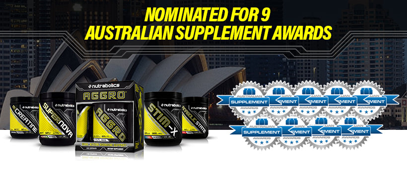 Nutrabolics nominated for 9 Australian Supplement Awards