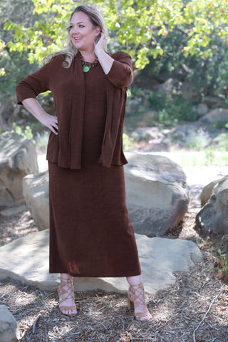 Bronze brown plus size clothing