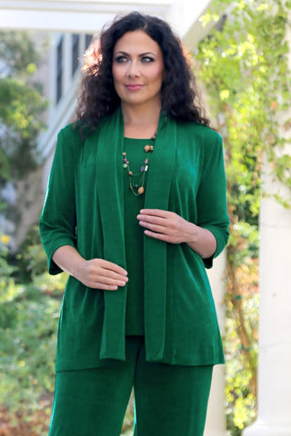 emerald green plus size clothing