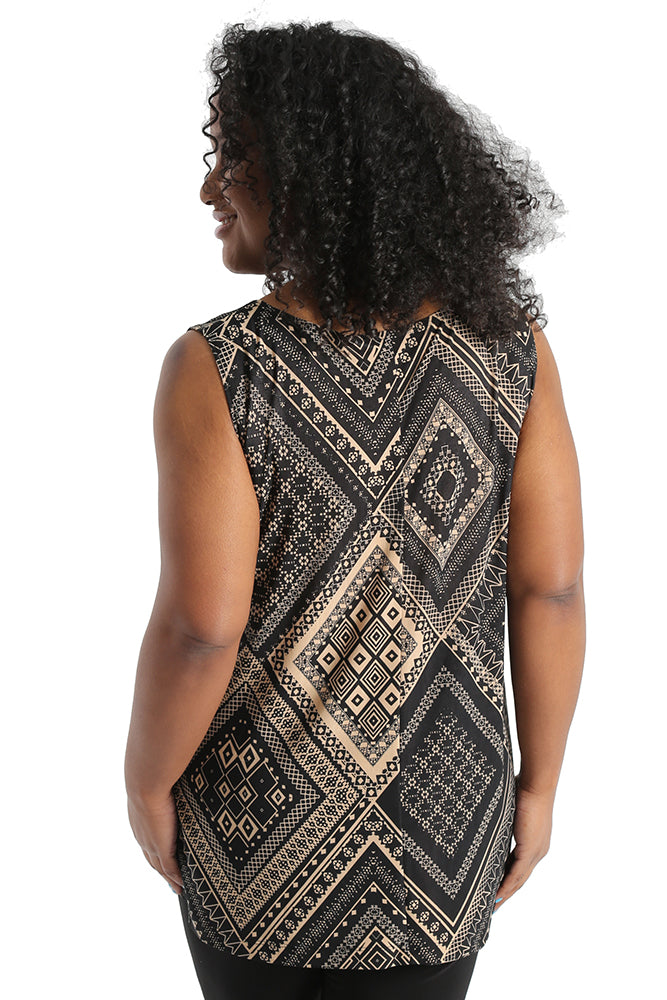 Vikki Vi Jersey Totemic Sleeveless Shell