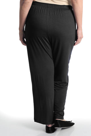 Vikki Vi Black Bamboo Lounge Petite Pull on Pant