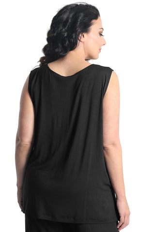 Vikki Vi Black Bamboo Lounge Sleeveless Tunic