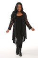 Black Lace Swing Duster