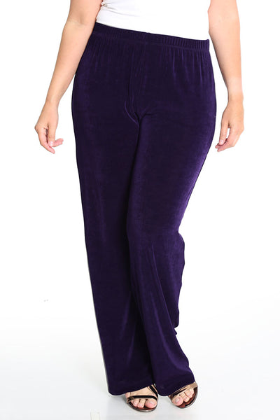 Vikki Vi Classic Black Plum Pull on Pant