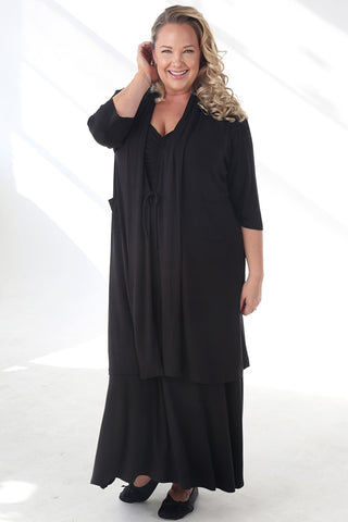 Vikki Vi Black Bamboo Lounge Robe